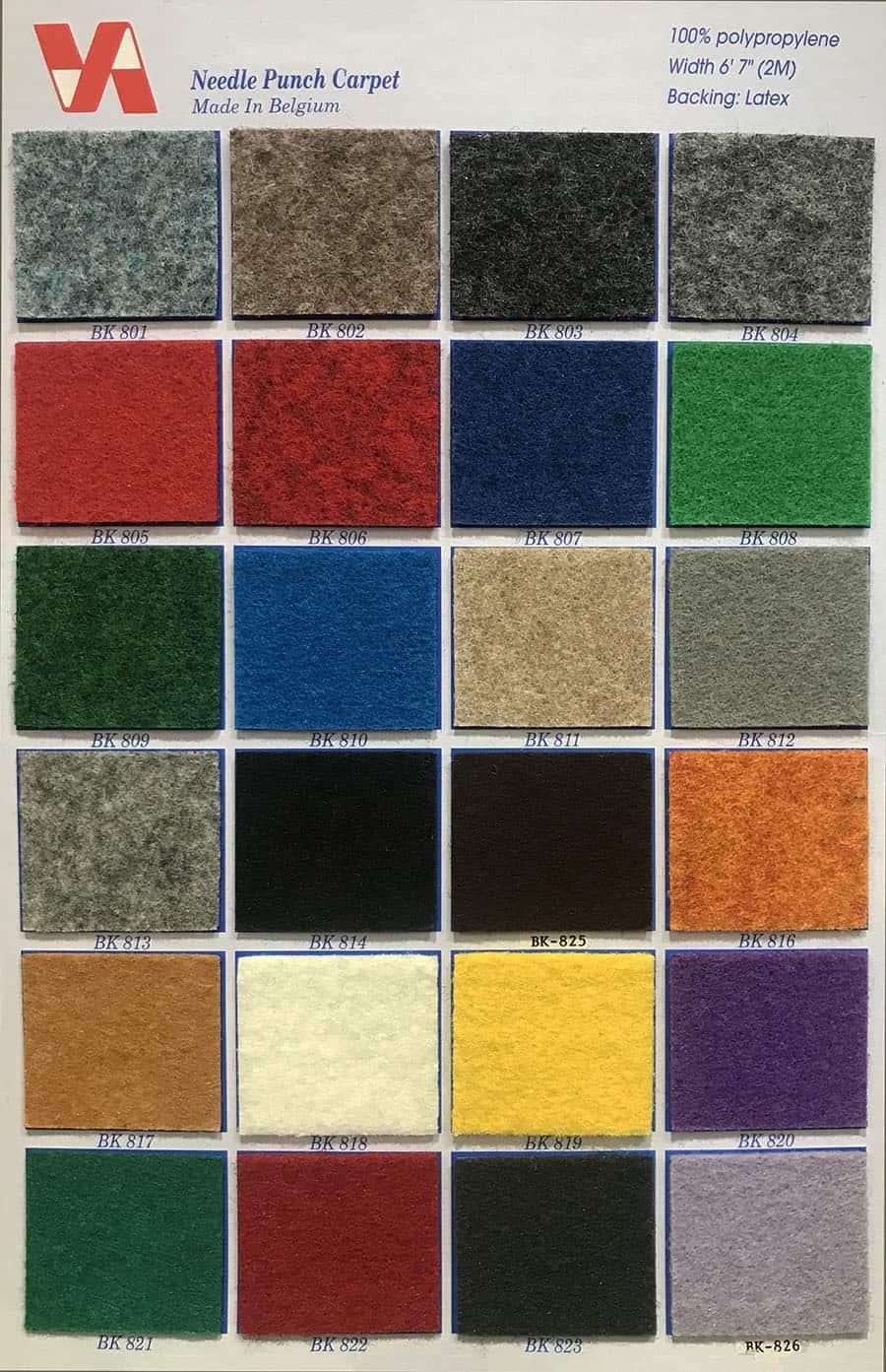 比利時展覽地毯 Belgium KK Carpet (2) Quality: 100% Polypropylene Width: 6'7