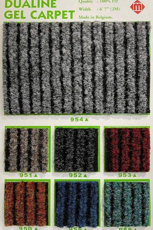 比利時坑紋地毯 Dualine Gel Carpet Rib Mat Quality: 100% P.P. Width: 6'7