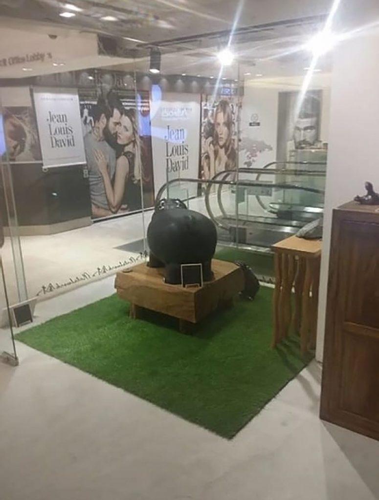 AT806人造草皮鋪設綠化工程 (商場室內店舖裝飾)